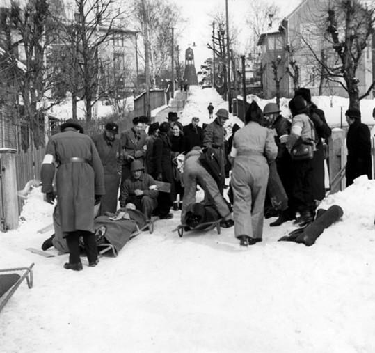 Blomgatan, luftskyddsövning, 1940