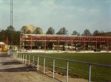 Ishallen under byggnad 1979