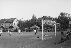 Fotbollsmatch ca 1950